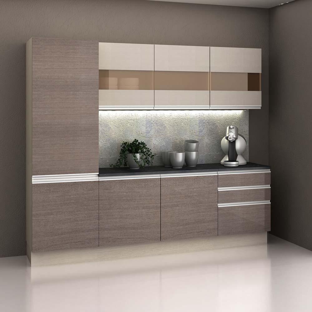 Cozinha Compacta Madesa Top 5 Pe As Com 7 Portas E 3 Gavetas