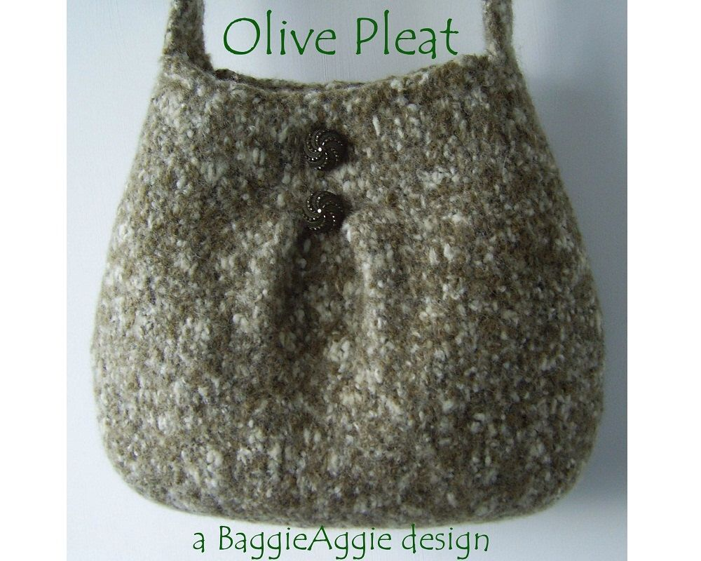 INSTANT DOWNLOAD Felted Purse Pattern, PLEAT, Felted Bag Pattern ...