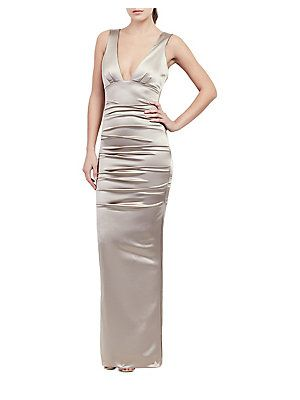 Nicole Miller Plunging Bodycon Gown   bridesmaid dresses   Pinterest