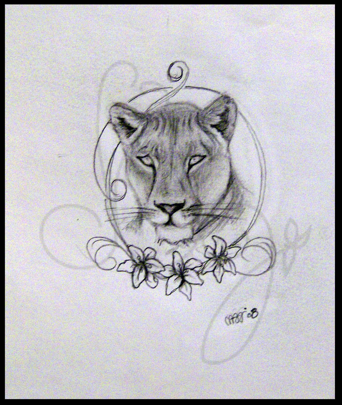 Lioness Tattoos Pictures