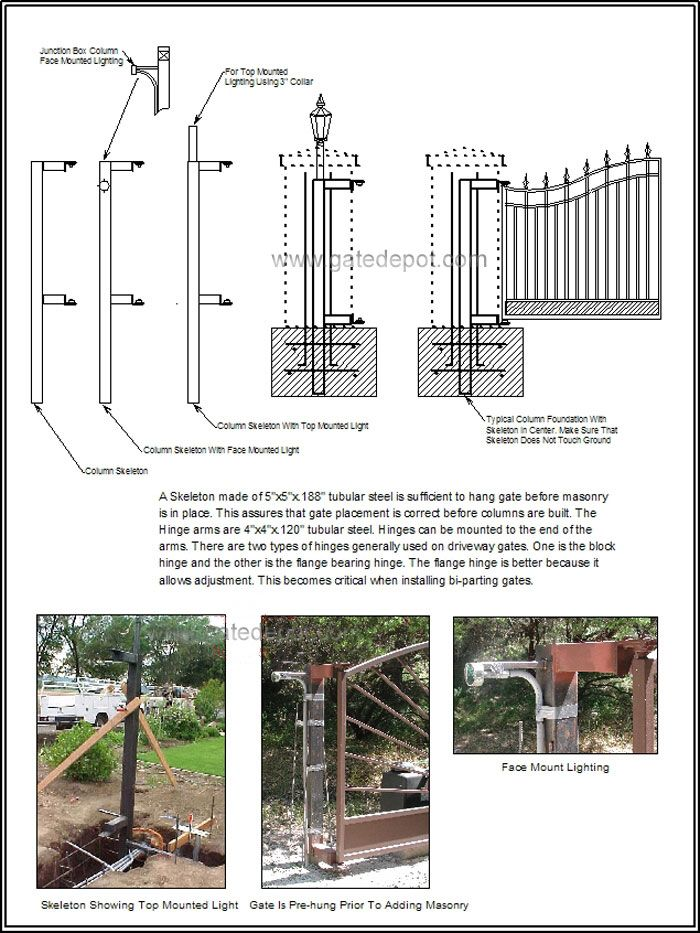 Column Designs For Entry Gates | Entrance Gate Designs For Home Driveway Gate  Pillars Download Read .