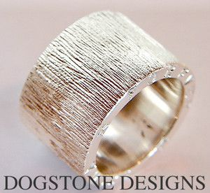 Men's Chunky Silver Dogstone Ring  Contact - 0161 491 0624