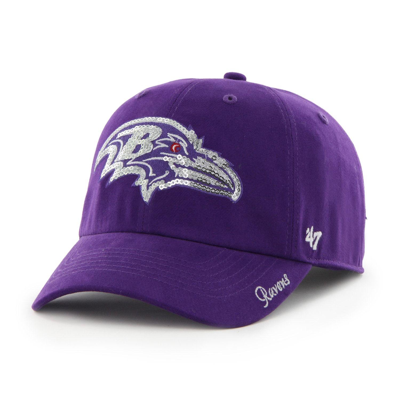 2f50c3eb6894a9 Women's '47 Brand Baltimore Ravens Sparkle Adjustable Cap | Men's ...