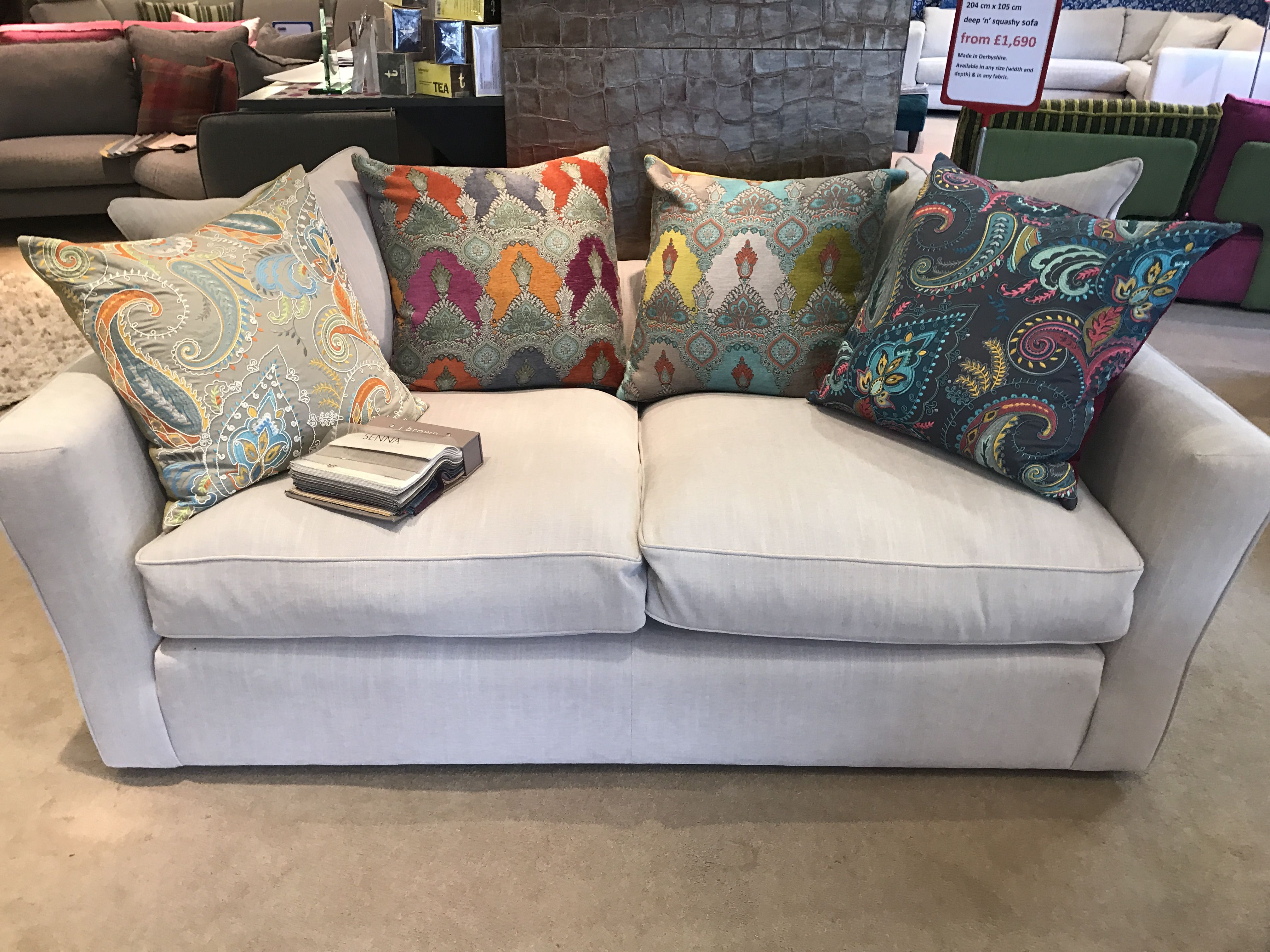 Elegant Our Deep N Squashy Bespoke Sofa With Scatters Instead Of The More  Traditional Back Cushions