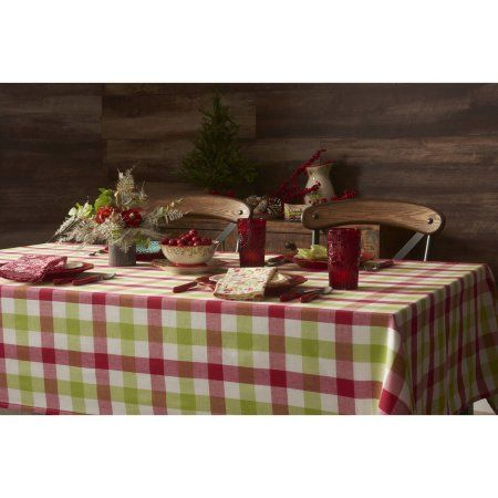 The Pioneer Woman Holiday Charming Check Tablecloth 60 Inch X 120 Inch Multicolor Pioneer Woman Table Cloth Holiday