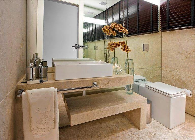 40 bancadas de banheiros lavabos veja modelos modernos e for Lavabos modernos