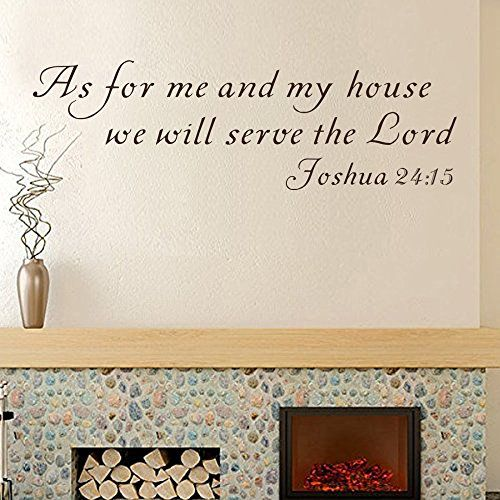 Scripture Wall Decal Bible Verse As For Me And My House Joshua - Wall decals bible verses