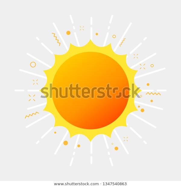 Sunlight Sunshine Summer Pictogram Stock Vector Royalty Free 1347540863 Pictogram Stock Vector Vector