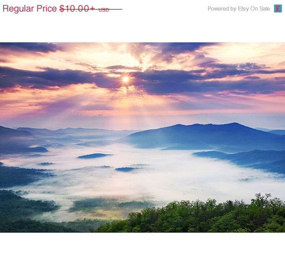 Blue Ridge Parkway Sunrise, Fine Art, Photo, Print, Landscape Photography, Pisgah, Nature, Pounding Mill, Spring, Home Decor, Dawn, Birthday