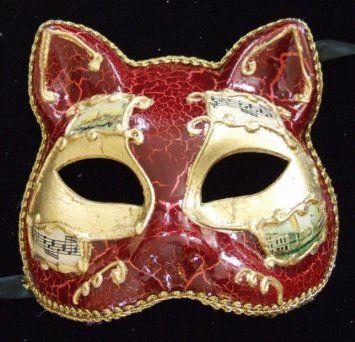 matériaux de qualité supérieure esthétique de luxe vraie affaire Antique Mardi Gras Venetian Gatto Mask   Breakable or ...