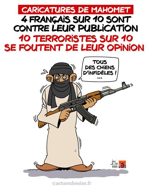 Les caricatures de Mahomet en question - JM   Humour actualité, Dessin humoristique, Humour