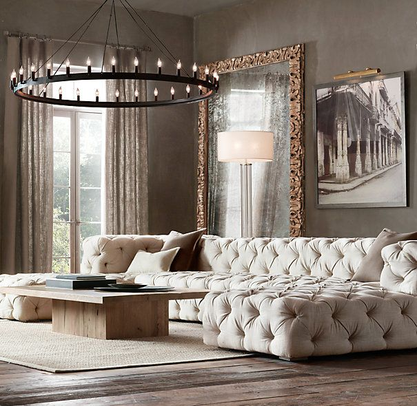 Soho Tufted Upholstered U Chaise Sectional Home Living Room Home Home Interior Design