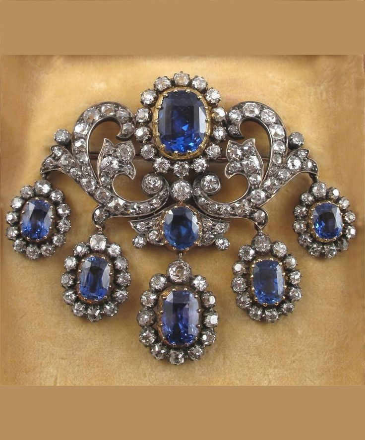 and brooch gold naples index sabbadini milano ii sapphire yellow