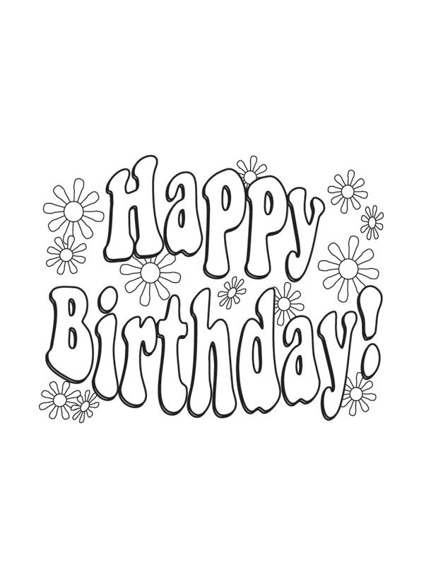 Happy Birthday Coloring Pages Download   Happy birthday ...