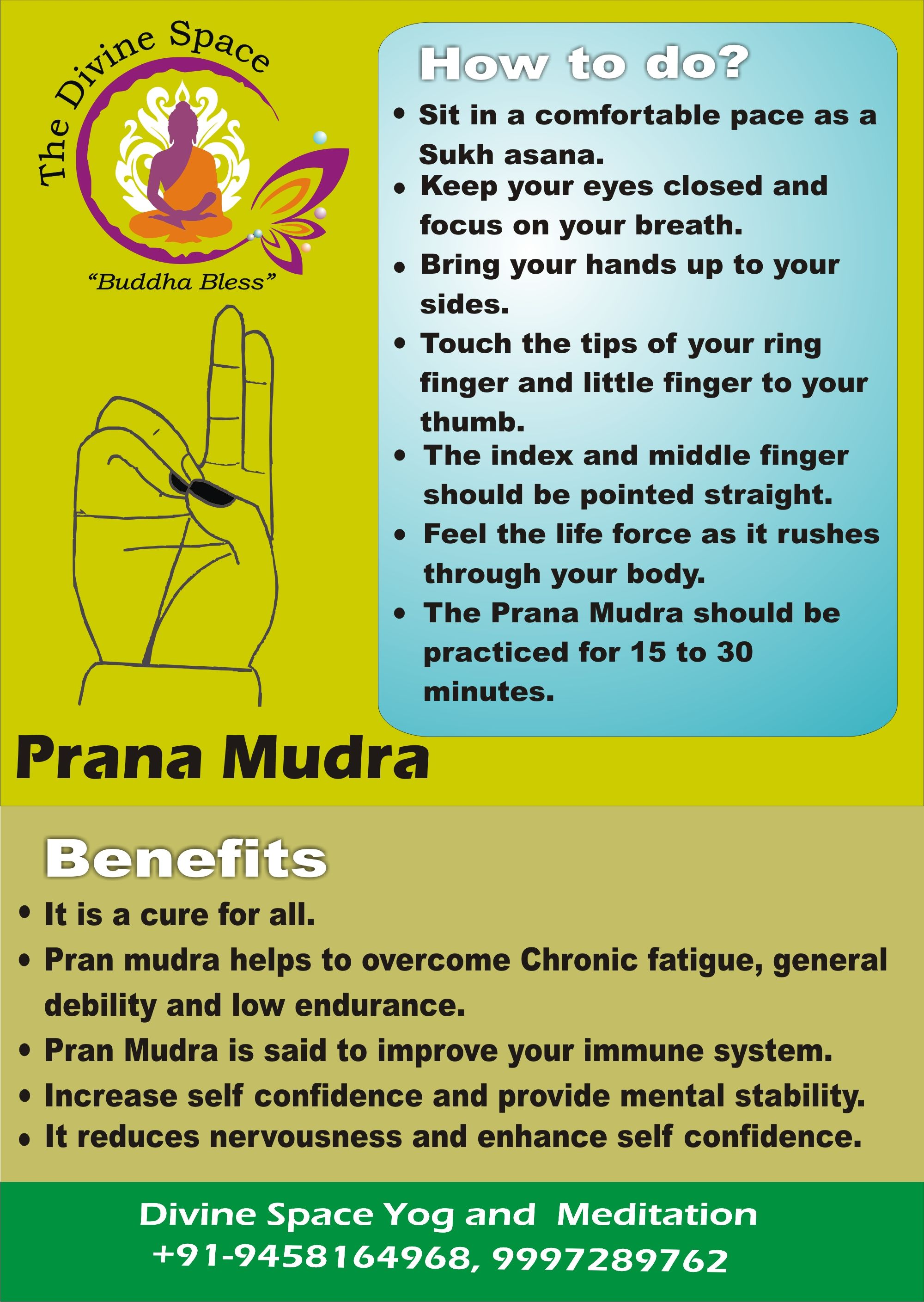 Prana mudra alter the energy in the body, it is