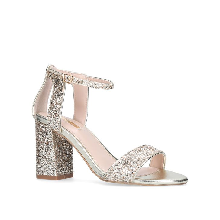 27889b8c9c89 Gigi Gold Mid Heel Sandals By Carvela Kurt Geiger