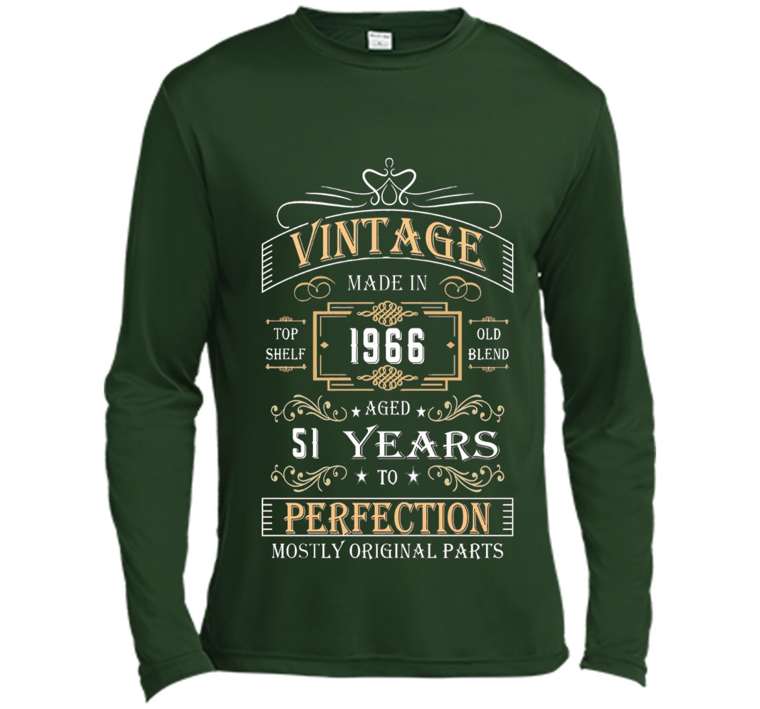 Vintage Age 51 Years 1966 Perfect 51st Birthday Gift T-Shirt