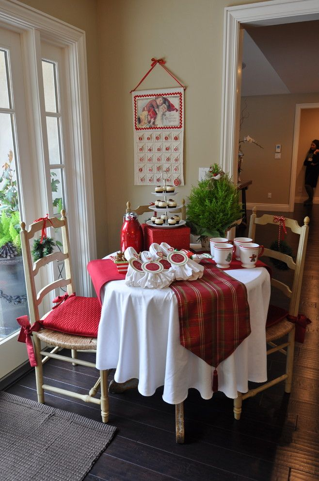 The Kitchen Is Decorated To Create A Warm, Cozy Atmosphere, Complete With A  Hot Cocoa Station, Miniature Cupcakes, ...