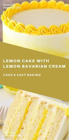 This Lemon Cake with Lemon Bavarian Cream is made with a moist lemon cake, alternating layers of lemon bavarian cream and lemon curd filling and lemon buttercream! #cake #baking #desserts #dessertfoodrecipes #sweets #glutenfree #lemonbuttercream This Lemon Cake with Lemon Bavarian Cream is made with a moist lemon cake, alternating layers of lemon bavarian cream and lemon curd filling and lemon buttercream! #cake #baking #desserts #dessertfoodrecipes #sweets #glutenfree #lemonbuttercream This Lem #lemonbuttercream