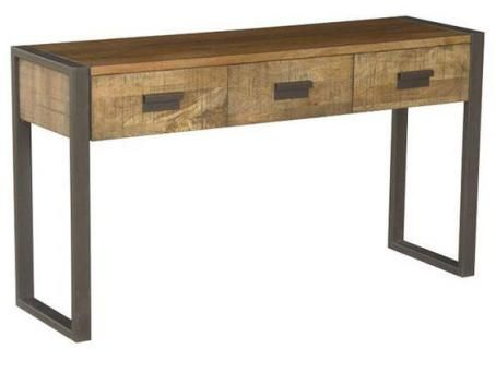 Contemporary Hall Table contemporary industrial hall table 3 drawers - 1400w x 400d x 780h