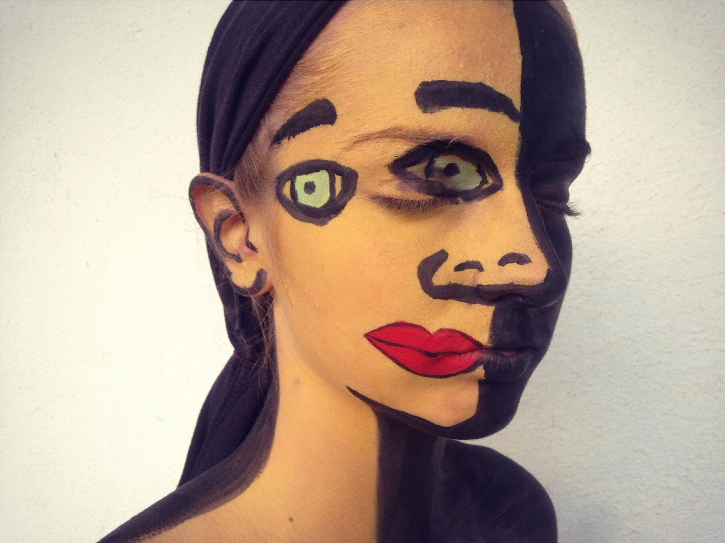 Picasso & Cubism Inspired Face Paint MollieAmber