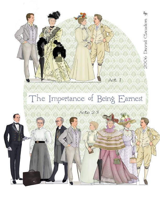 The Importance of Being Earnest Paper Dolls by David Claudon