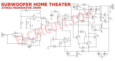 subwoofer home theater power amplifier pinterest rh pinterest com circuit diagram of intex home theater circuit diagram home theatre