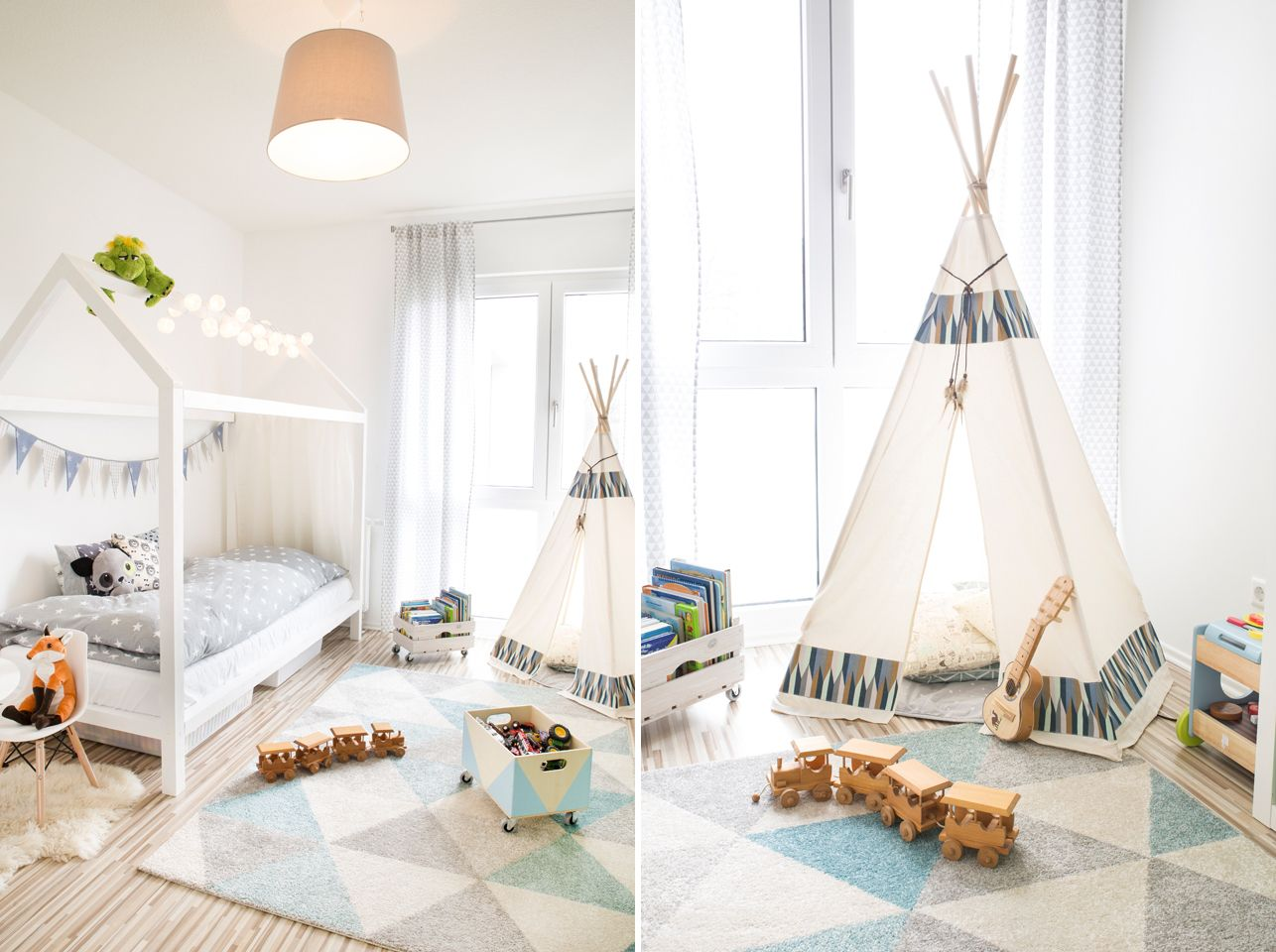 kinderzimmer einrichten mit teppich tipi wird 39 s bei. Black Bedroom Furniture Sets. Home Design Ideas