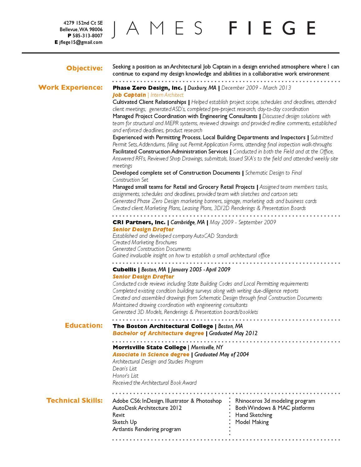 A1 Jim Fiege Resume Resume Self Promo Resume Examples