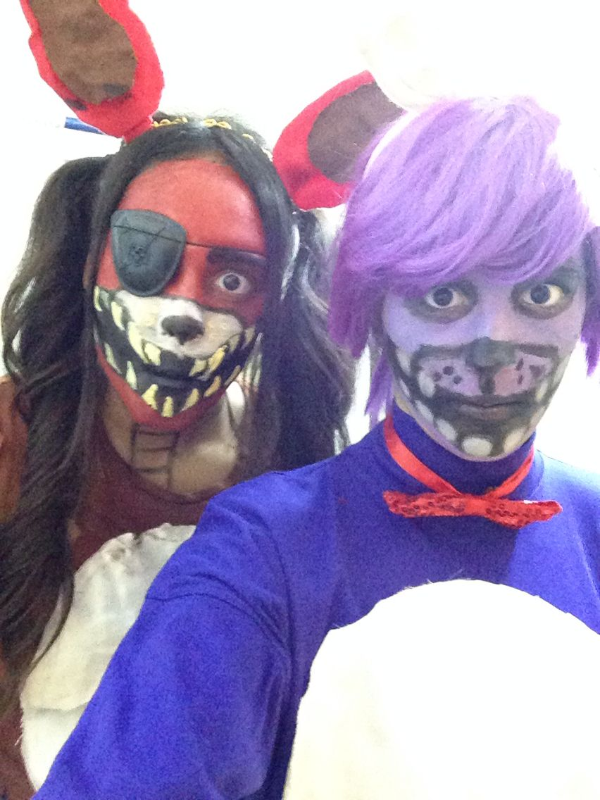 Foxy And Bonnie From Five Nights At Freddie 39 S By Lexi Gorospe Halloween Pinterest Costumes