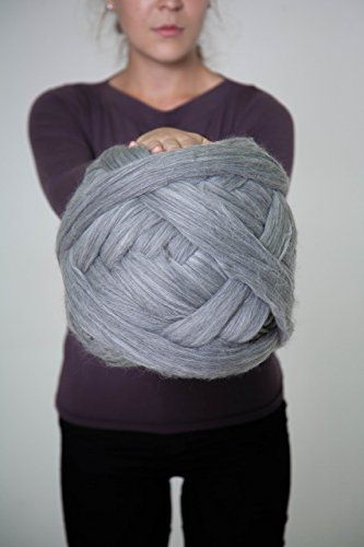 Chunky wool Yarn, 100% wool, 23 microns, For Knitting, Arm Knitting, Roving, Weaving ** Check out the image by visiting the link.