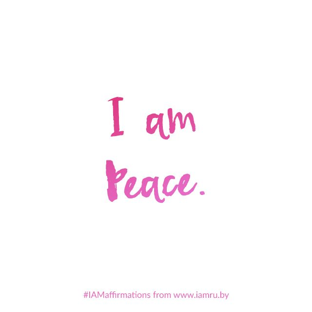 Repeat after me: I AM PEACE.  Quiet your mind. Surrender to your being. All the peace you seek, is already within you.   #IAMaffirmations #affirmation #peace