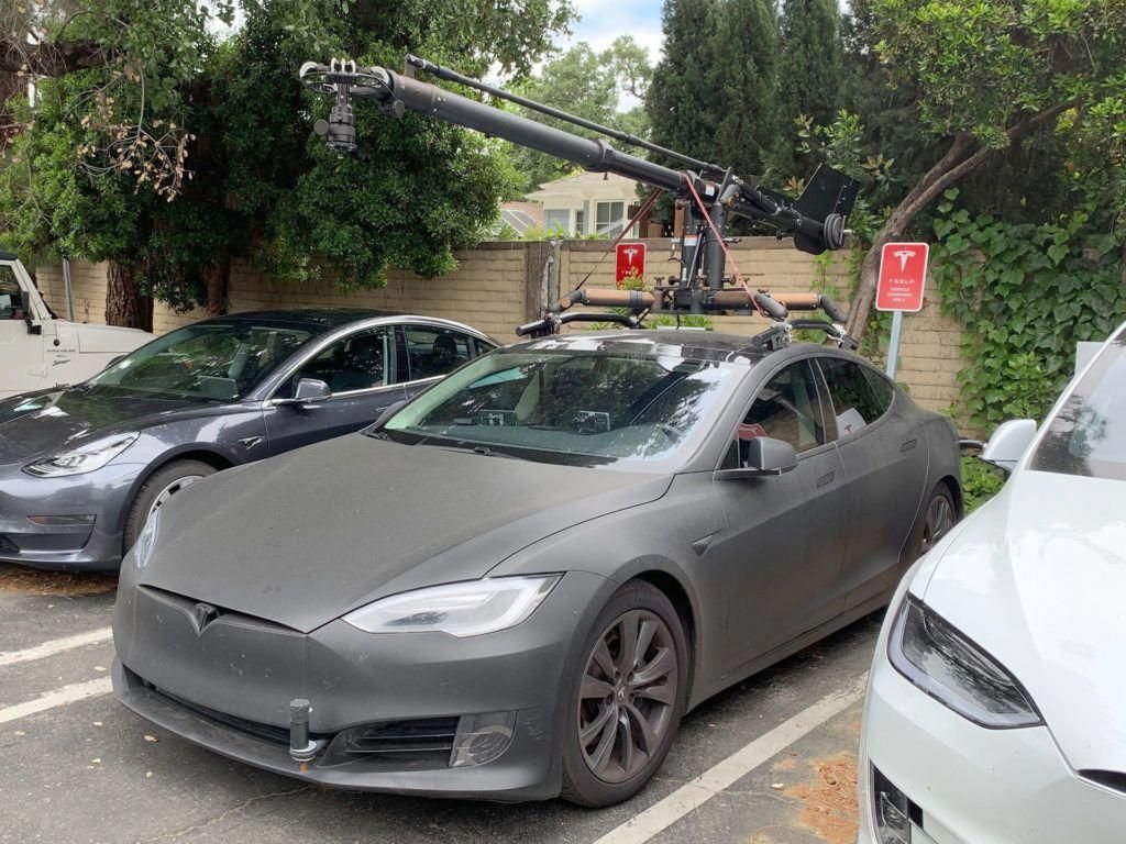 Tesla Model Y Spotted In The Wild Being Followed By A Model S Camera Car Tesla Model Tesla Tesla Roadster