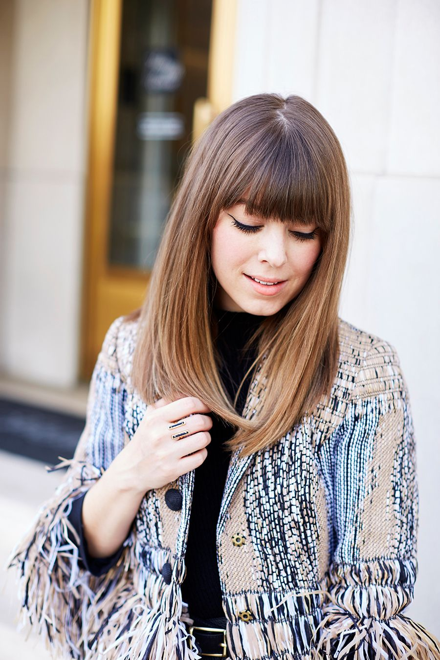 easy steps for a straight hairstyle with bangs straight