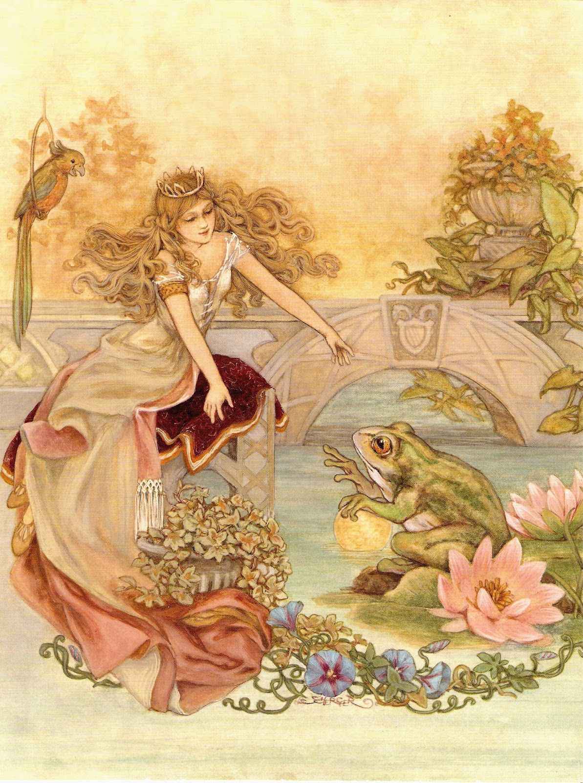 Frog Prince Fairy Tale Illustrations