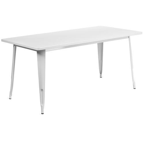 31 5   x 63   Rectangular White Metal Indoor Outdoor Table     31 5   x 63   Rectangular White Metal Indoor Outdoor Table   Products    Pinterest   Outdoor tables  Indoor outdoor and Products