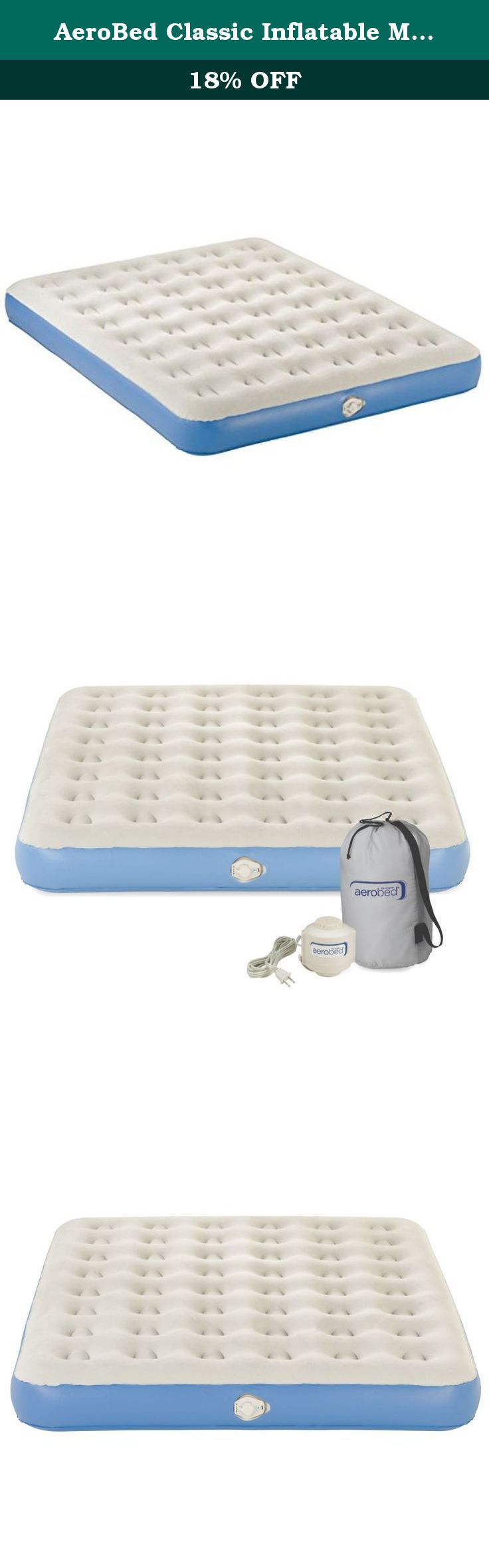 AeroBed Classic Inflatable Mattress with Pump, Queen. Easily turn any room  into a spare
