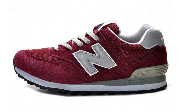 NEWBALANCE Burgundy And Silver  Unisex Running Shoes 574 - ShopGoo Online Store