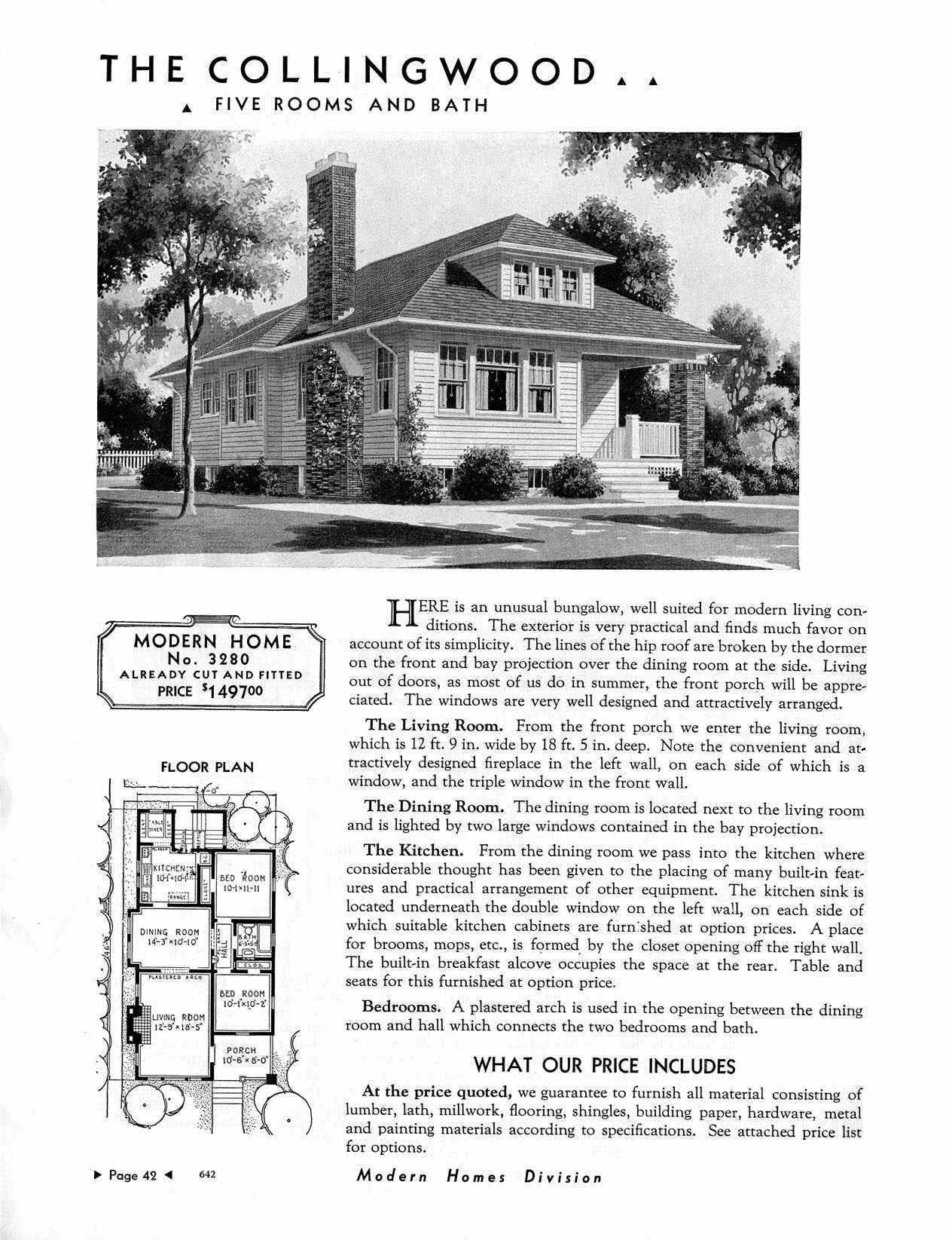 Sears House The Collingwood Model No P3280 1 329 To 1 960 Craftsman Style House Plans Vintage House Plans Sears Catalog Homes