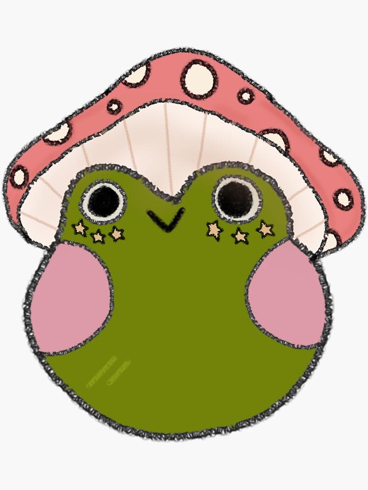 Mushroom Frog Sticker by sunflwrmike7