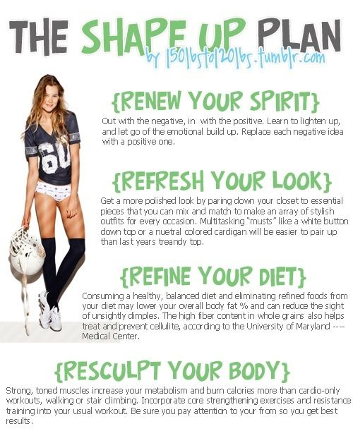 The Shape Up Plan #Spirit #Diet #Look