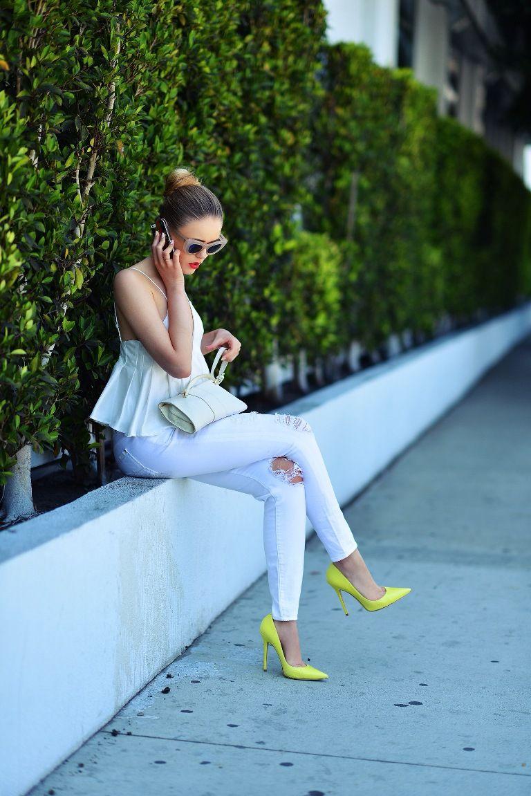Top 15 vibrantly women printed pantsuits, Pradas meet fall model exclusives forum buzz