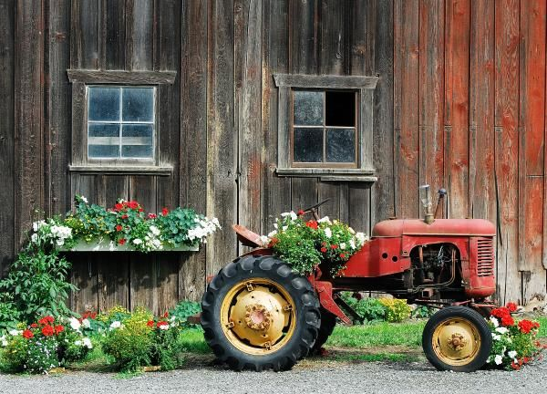 The Barn And Tractor by Paul W Sharpe Aka Wizard of ...