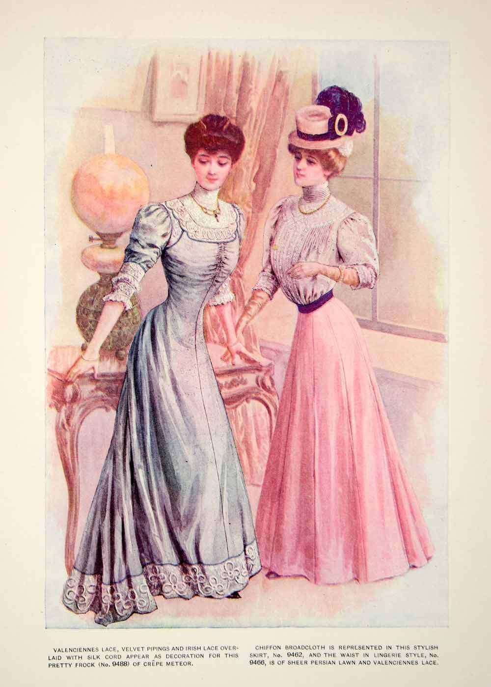1906 Photolithograph Delineator Edwardian Ladies Fashion Style Art ...