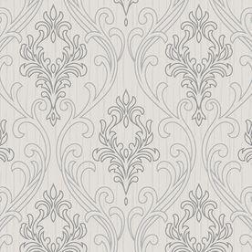 Graham Brown Gray Peelable Vinyl Unpasted Textured Wallpaper