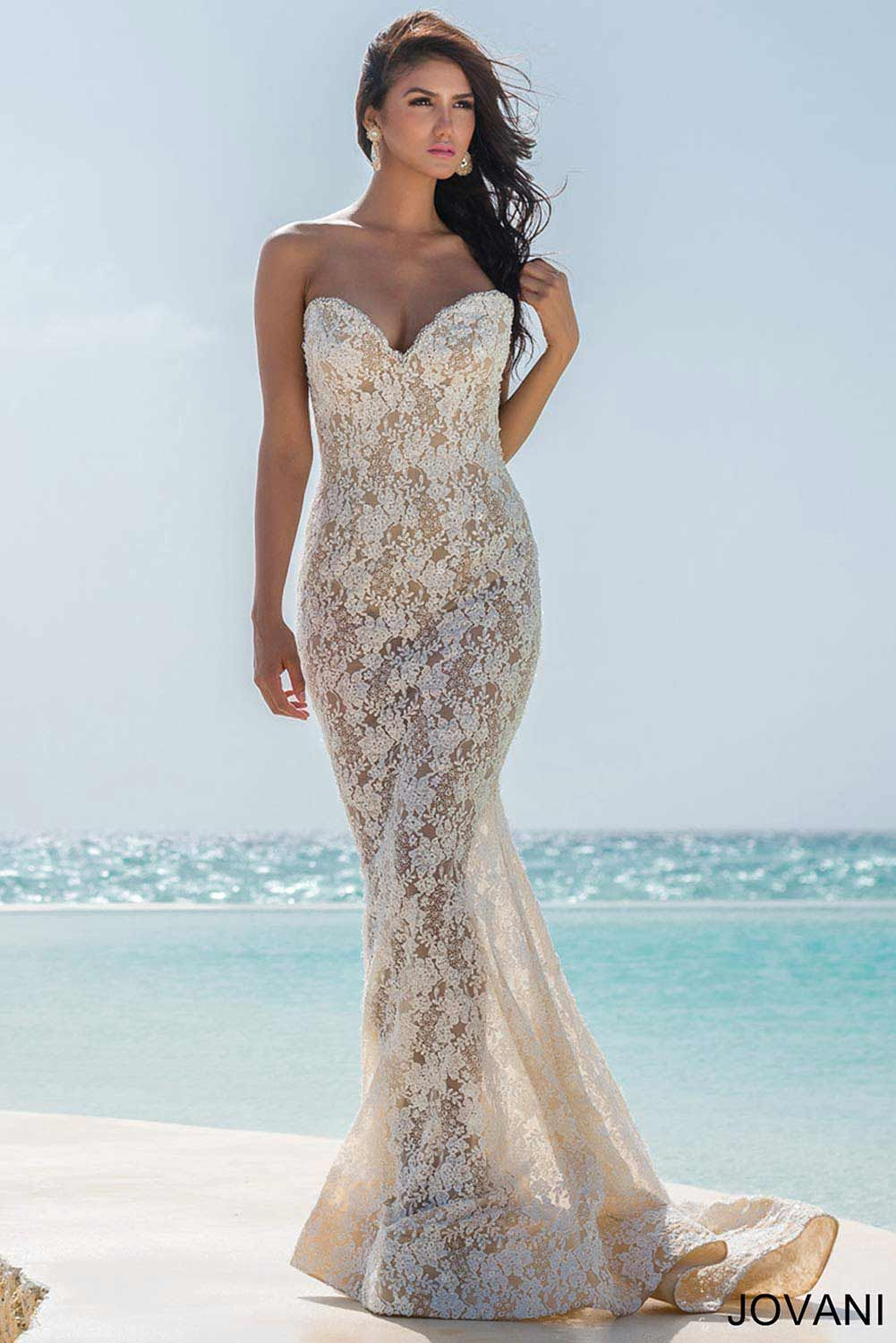Lace Strapless Dress 22210 | Cool stuff to buy | Pinterest ...
