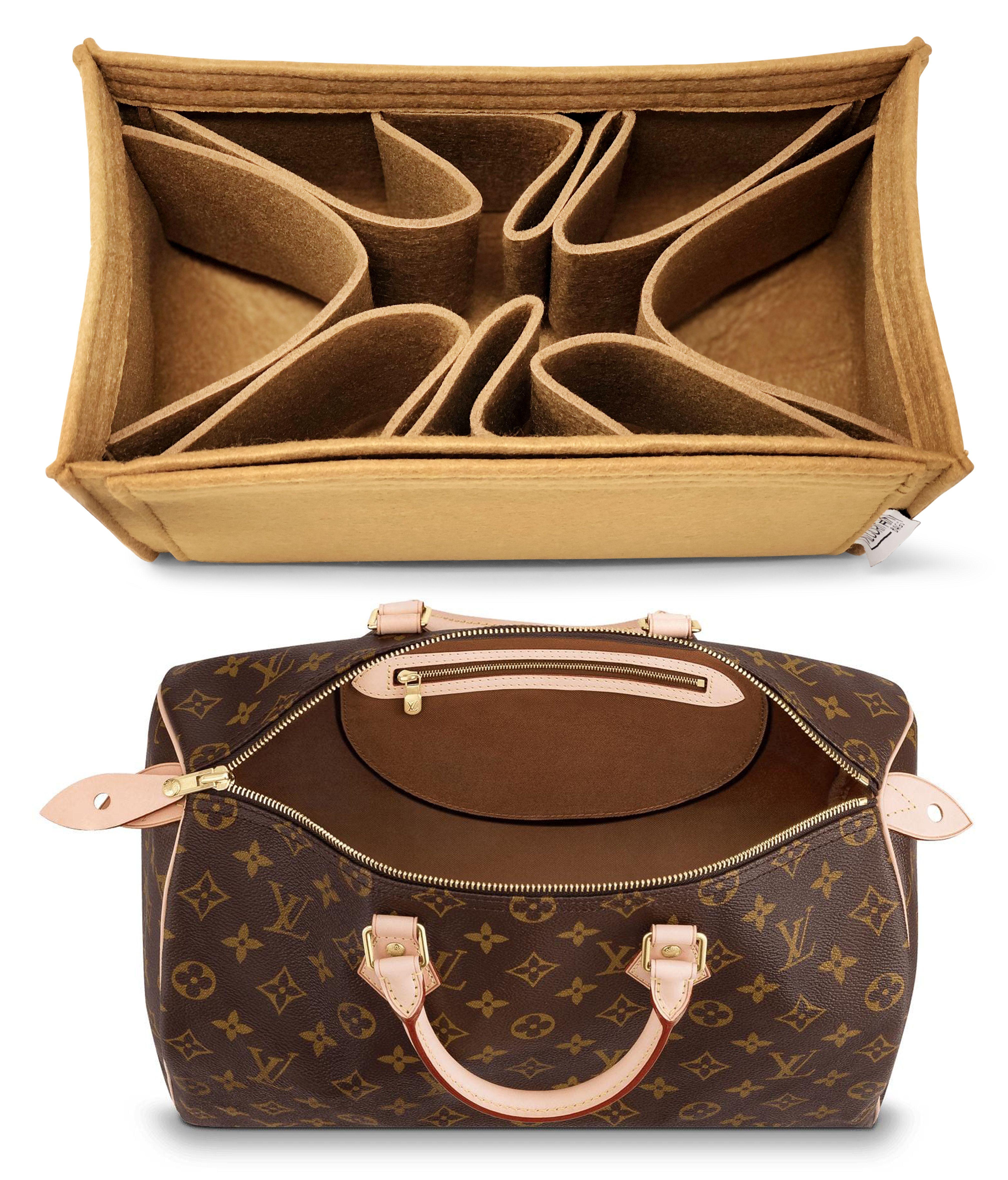 65a29eca9729d LV Purse Organizer for Louis Vuitton Speedy 35 Monogram Brown in ...