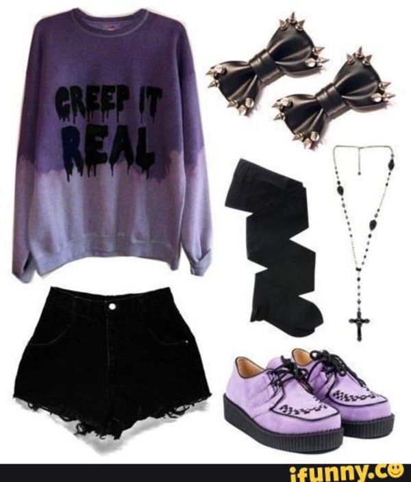 Really Pretty Sweatshirt found on Polyvore | pastel goth clothes ...