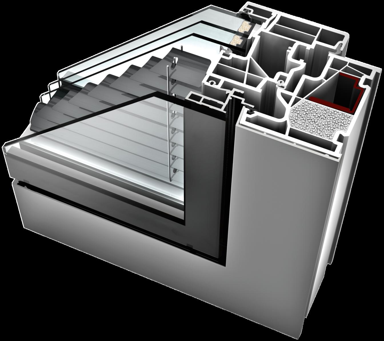 Kv 440 kunststoff aluminium fenster internorm detail for Internorm fenster