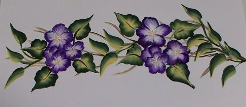 Simple Flower Patterns To Paint Painted Borders Decals Glass